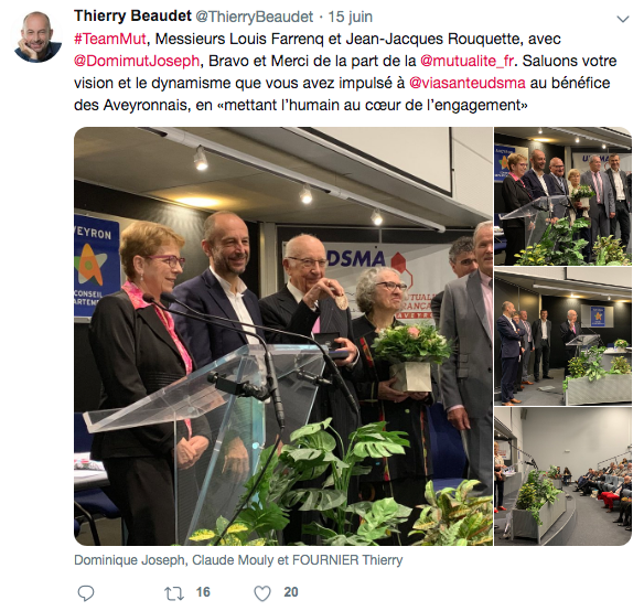 tweet thierry beaudet AG medailles
