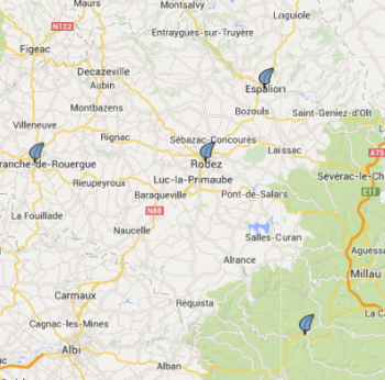 Carte SAD aveyron