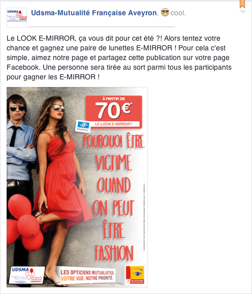 Les Opticiens Mutualistes - Jeu Facebook - E-MIRROR